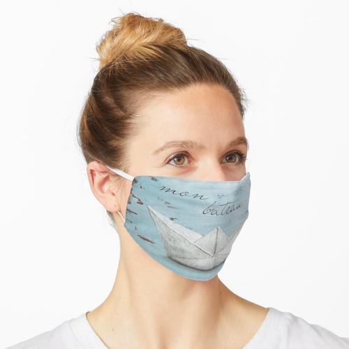 Papierschiff Maske