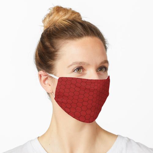Rote sechseckige Maske Maske
