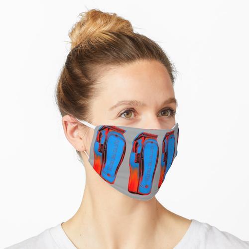Pop Art Clipper rot und blau Maske