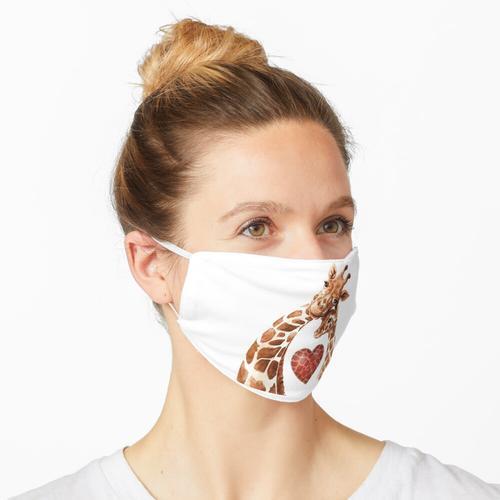 Giraffen-Mutter-Herz-Baby-Giraffen-Liebhaber Maske
