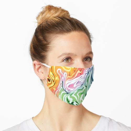 Geschmolzenes Neon Maske