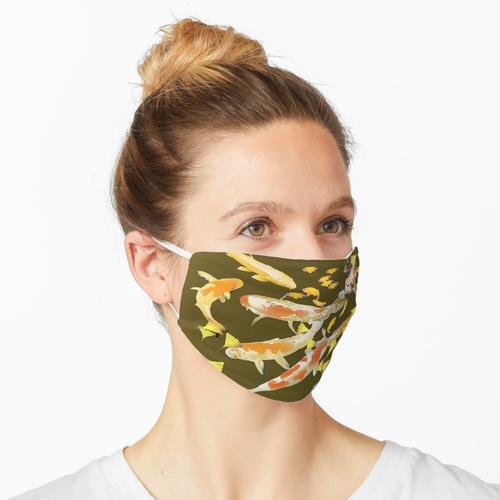 Koi und Ginkgo Blätter Maske