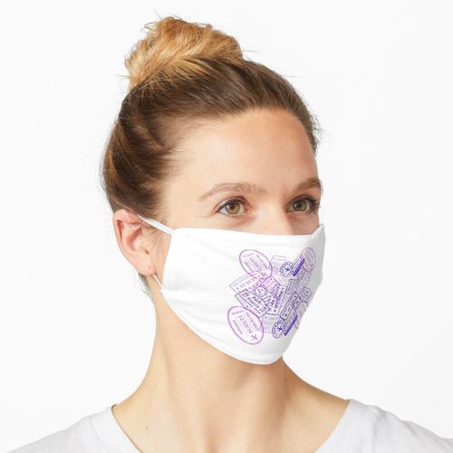 Reisepassstempel Maske