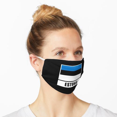 Estland estnisch Flagge Fahne Maske