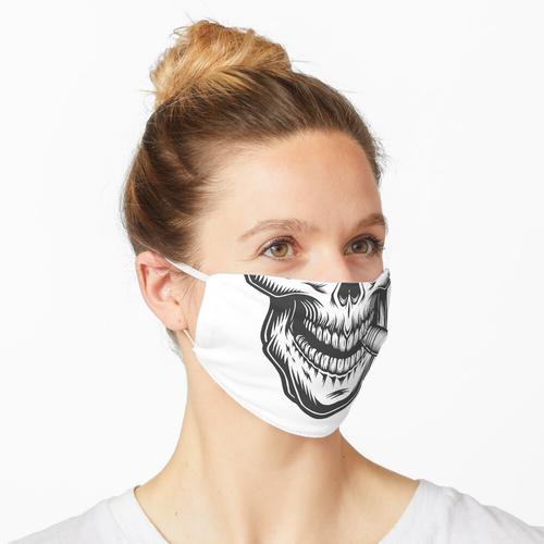 Mundschutz Totenkopf Schädel Rauchen Bart Maske
