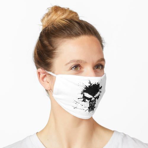 schwarzer Farbschädel Maske