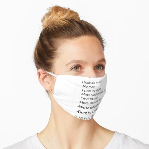 Twitter Sticker - Lustige Regeln für mein Auto Maske