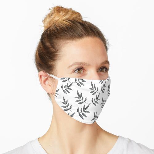 Kletterpflanze. Grau Maske