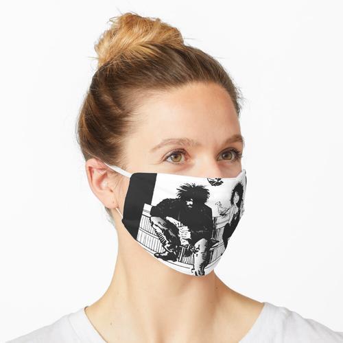 Fütterung der Tauben (weiß) Maske