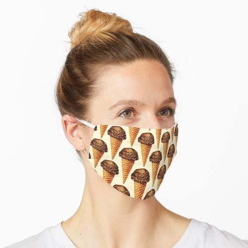 Schokoladeneis-Muster Maske