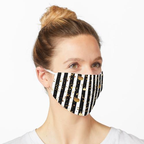 Streifen & Splatter - Gold Maske