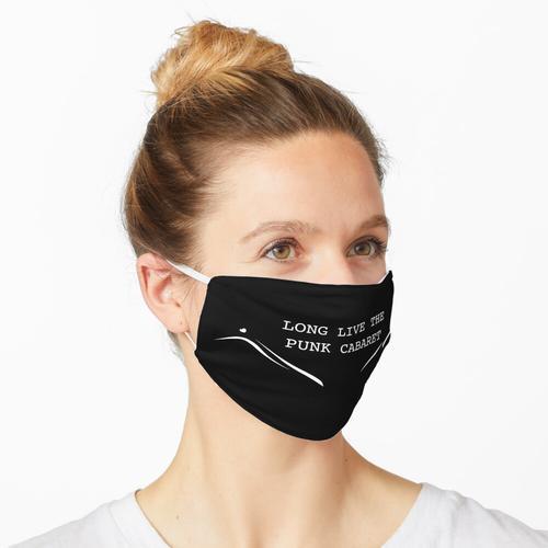 Lang lebe das Punkkabarett (weiß) Maske
