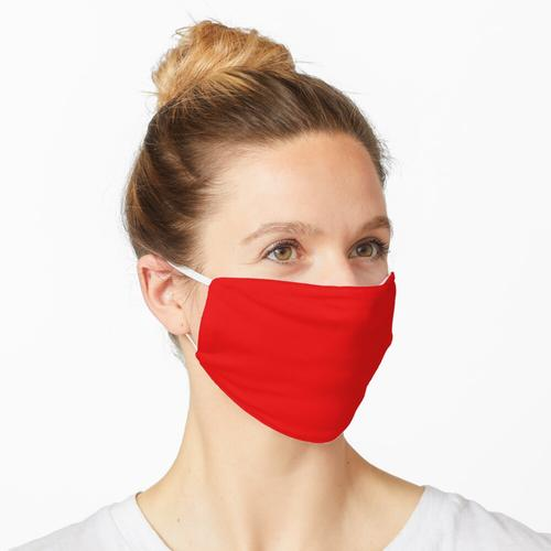 Normal leuchtend rot Decke Bettbezug werfen Maske