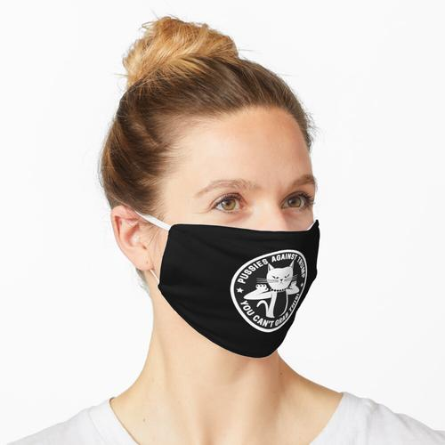 Fotzen gegen Trump Black Maske