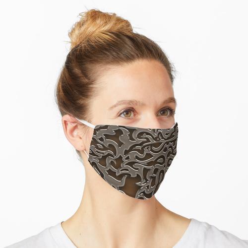 Metall - Kupferprägung Maske