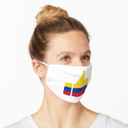 Fahnen-Daumen von Kolumbien Maske