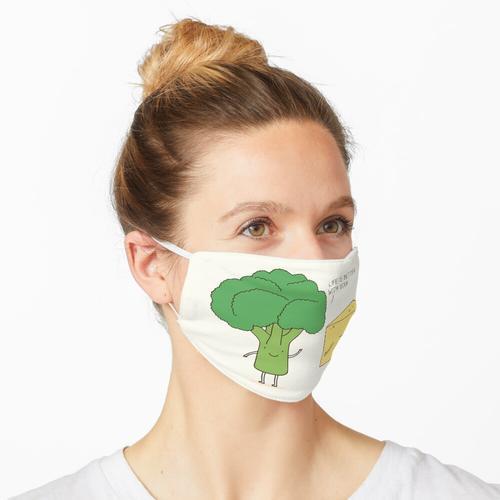 Brocooli und Käse Maske