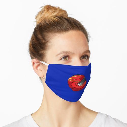 Rotes Motorradhelm-Muster Maske