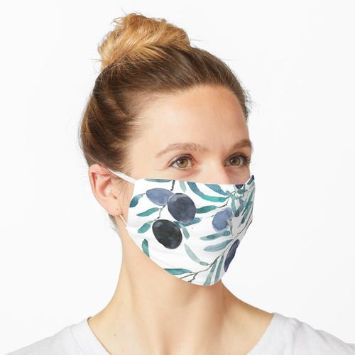 schwarz olivfarbenes Aquarell Maske