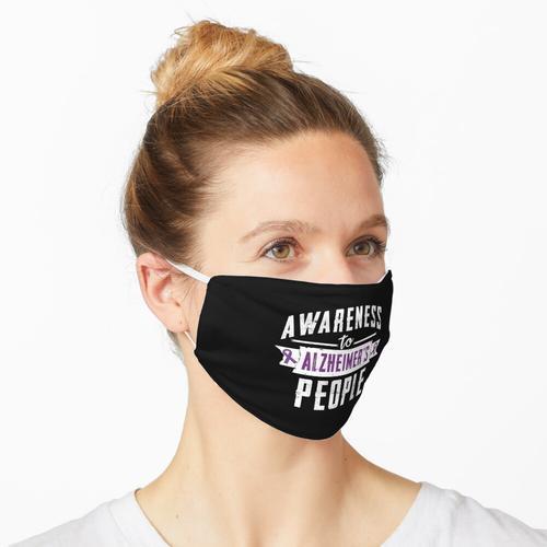 Bewusstsein für Alzheimer-Menschen - Alzheimer-Tag Maske