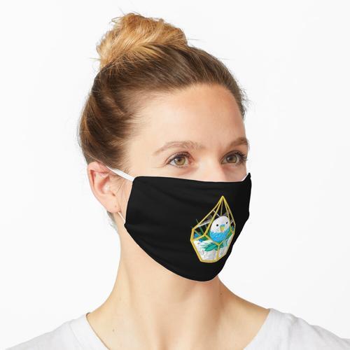 Wellensittich & amp; Sukkulenten in einem Terrarium Maske