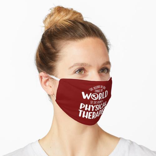 Ändern Sie die Welt Physiotherapeut, Physiotherapeut Geschenk, Physiotherapie, Physiotherapeu Maske