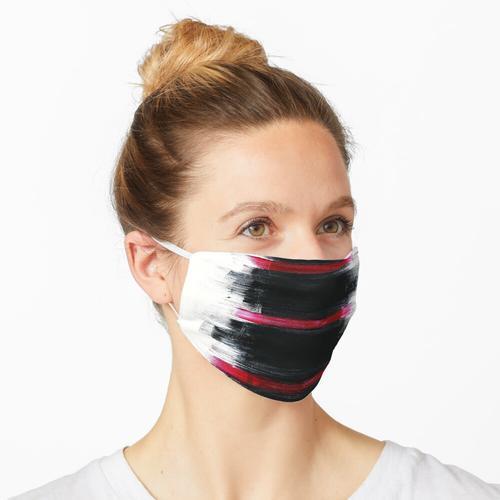 Rote Streifen Schwarze Streifen Dünne Streifen Fette Streifen Maske