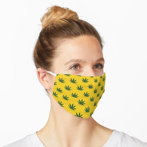Canabis - grün / gelb Maske