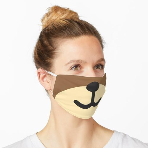 Teddy Teddybär Knuddelbär Kuscheltier Stofftier Maske