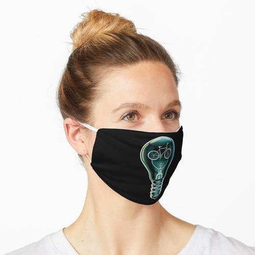 Dunkle Fahrradlampe Maske