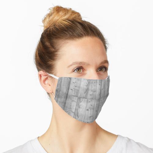 Holzbohlen 6 Schwarz & Weiß Maske