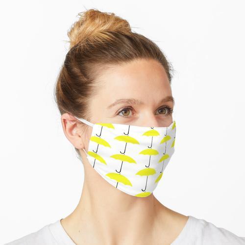 Gelber Regenschirm Maske