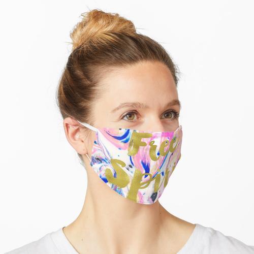 Acryl und Rasierschaum. Maske