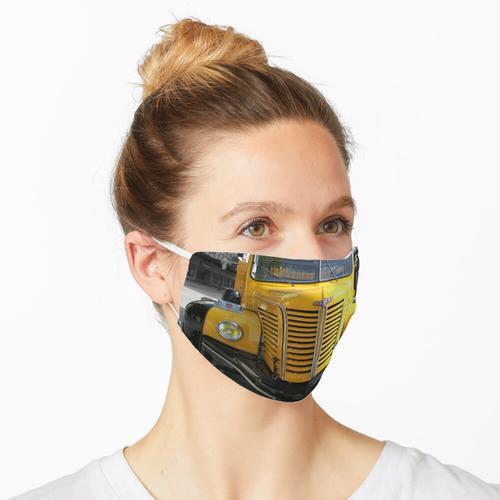 gelber LKW Maske