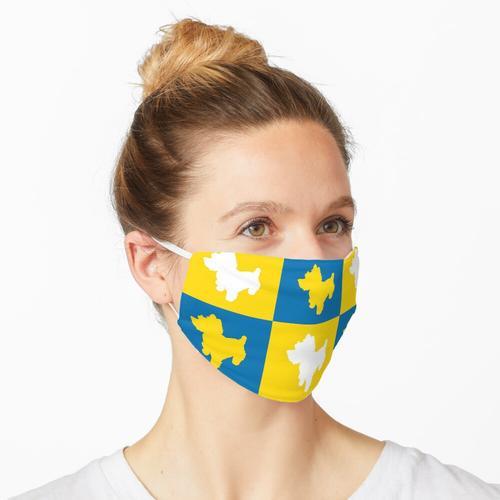 Shortbread (gelb und blau) Maske