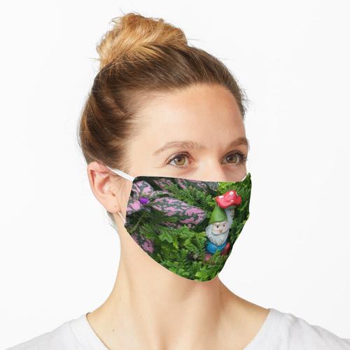 Süßer Gartenzwerg und Pilz Maske