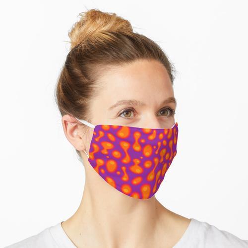Lila Lavalampe Maske