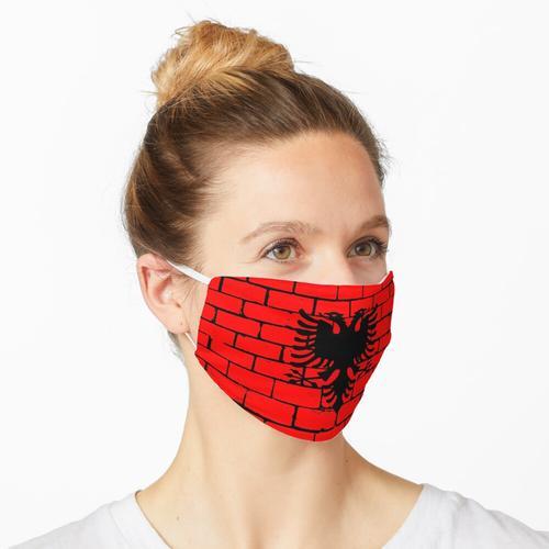 Albanien albanisch Fahne Flagge Doppeladler Maske