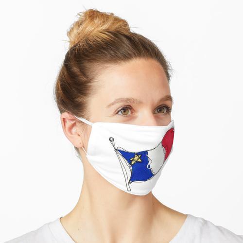 Drapeau acadien Maske