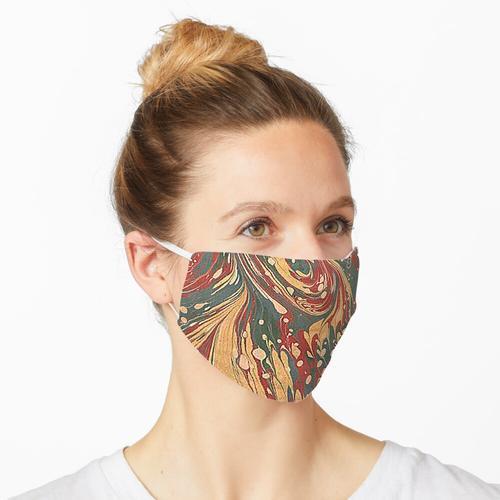 Antikes marmoriertes Papier / Marmorpapier Maske