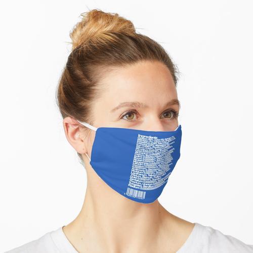 Liste der menschlichen chemischen Inhaltsstoffe Maske