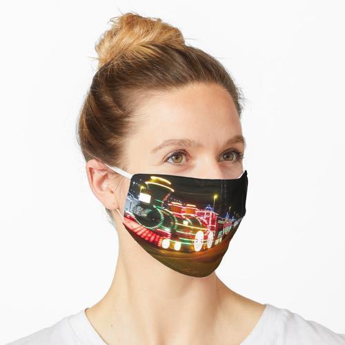 Blackpool Zug in der Nacht Maske