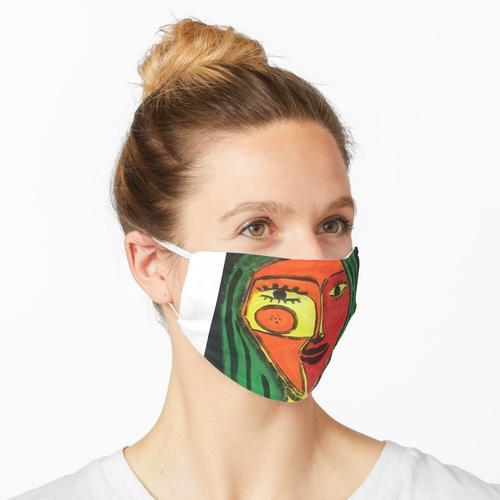 Stoffpuppe Maske