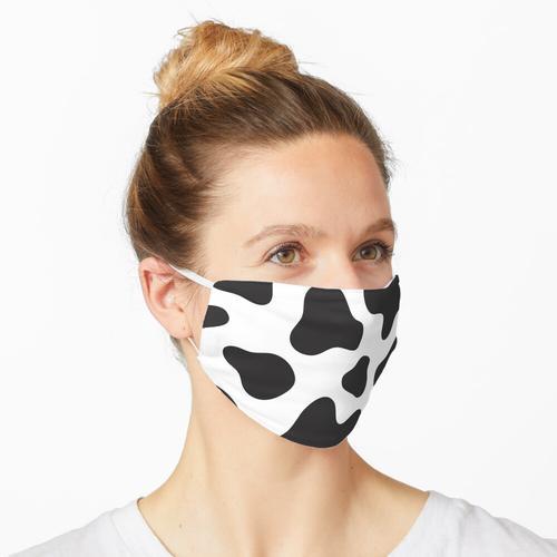 Kuh-Druck Schwarzweiss Maske