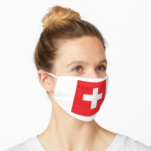 Schweizerisch. Schweiz. Schweizer Flagge. Flagge der Schweiz. Weißes Kreuz. Schweizerische Eid Maske