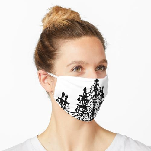 Kristallleuchter Schwarz Silhouette Maske