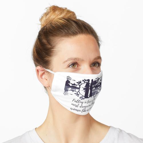 Mädchen aus Papier und Feuer Maske