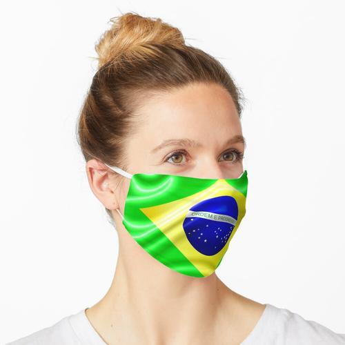 Brasilien Flagge wehende Seide Stoff Maske