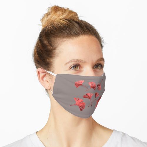 Rote Ginkgoblätter Maske