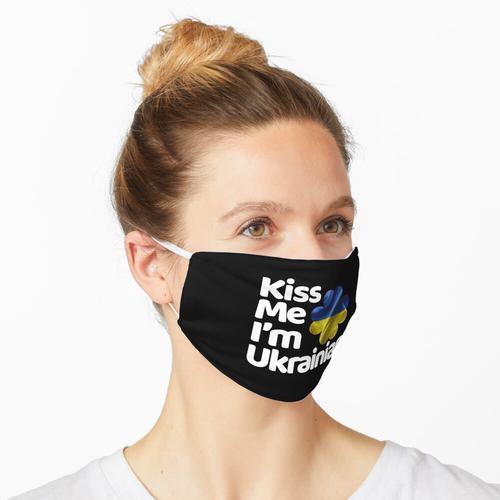 Küss mich Ich bin Ukrainer aus der Ukraine Maske